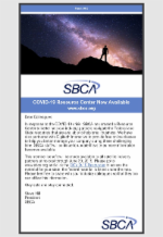 April 2020 Newsletter Featuring SBCA COVID-19 Resource Center Now Available
