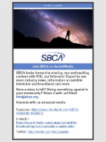 August 7, 2020 Newsletter Featuring Join SBCA on Social Media