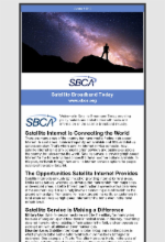July 2019 Newsletter Featuring Satellite Broadband Today Edition 4