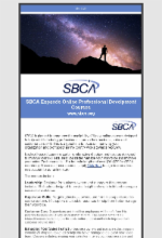 May 6, 2020 Newsletter Featuring SBCA Offers New Professional Development Courses